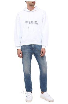 Мужские кожаные кеды arrows OFF-WHITE белого цвета, арт. 0MIA177E20LEA0010145 | Фото 2