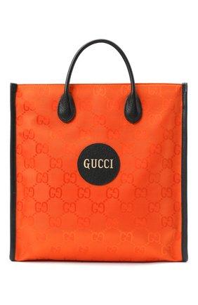 Мужская текстильная сумка-тоут off the grid GUCCI оранжевого цвета, арт. 630355/H9HAN | Фото 1