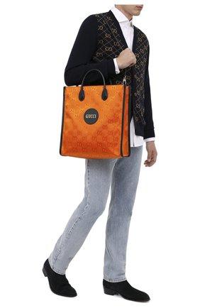 Мужская текстильная сумка-тоут off the grid GUCCI оранжевого цвета, арт. 630355/H9HAN | Фото 2