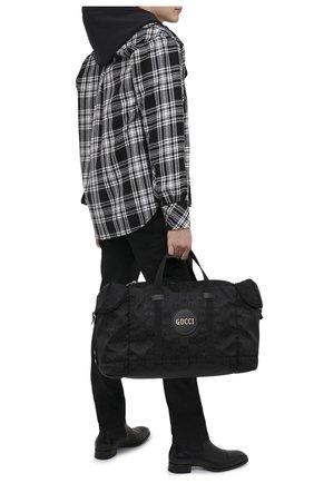 Мужская текстильная дорожная сумка off the grid GUCCI черного цвета, арт. 630350/H9HHN | Фото 2