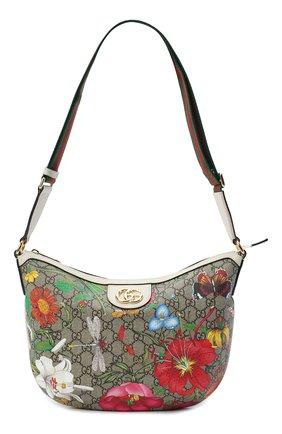 Мужская сумка ophidia gg flora GUCCI разноцветного цвета, арт. 626509/HWHAC | Фото 1