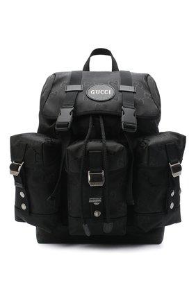 Мужской текстильный рюкзак off the grid GUCCI черного цвета, арт. 626160/H9HFN | Фото 1