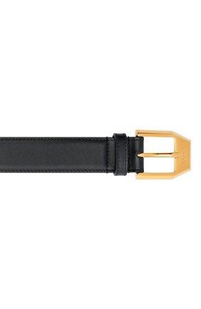 Мужской кожаный ремень GUCCI черного цвета, арт. 625473/BGH0G | Фото 3