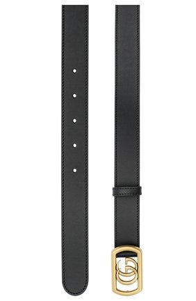 Мужской кожаный ремень GUCCI черного цвета, арт. 575587/AP00T | Фото 2