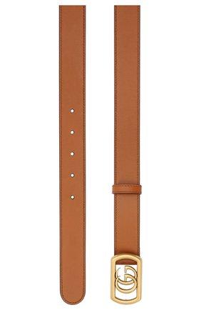Мужской кожаный ремень GUCCI коричневого цвета, арт. 575587/AP00T | Фото 2