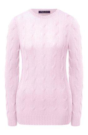 Женская кашемировый пуловер RALPH LAUREN розового цвета, арт. 290615209 | Фото 1