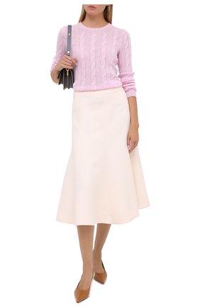 Женская кашемировый пуловер RALPH LAUREN розового цвета, арт. 290615209 | Фото 2