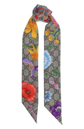 Мужские шелковый шарф-бандо GUCCI розового цвета, арт. 609317/3G001 | Фото 1