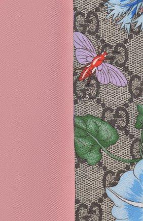 Мужские шелковый шарф-бандо GUCCI розового цвета, арт. 609317/3G001 | Фото 2