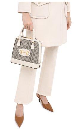 Женская сумка 1955 horsebit GUCCI белого цвета, арт. 621220/92TCG | Фото 2