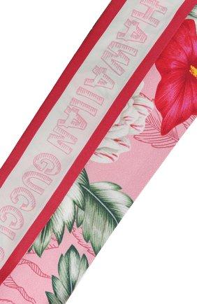Мужские шелковый шарф-бандо GUCCI розового цвета, арт. 631432/3G001 | Фото 2