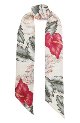 Мужские шелковый шарф-бандо GUCCI белого цвета, арт. 631432/3G001 | Фото 1