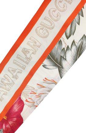 Мужские шелковый шарф-бандо GUCCI белого цвета, арт. 631432/3G001 | Фото 2