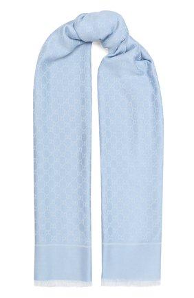 Женская шаль GUCCI голубого цвета, арт. 631416/3GF71 | Фото 1