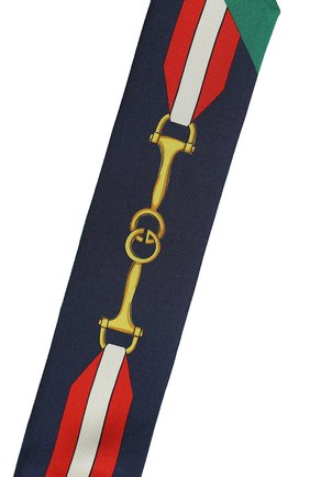 Мужские шелковый шарф-бандо GUCCI темно-синего цвета, арт. 627810/3G001 | Фото 2