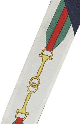 Мужские шелковый шарф-бандо GUCCI белого цвета, арт. 627810/3G001 | Фото 2