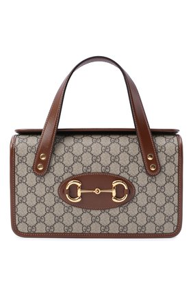 Женская сумка gg 1955 horsebit small GUCCI коричневого цвета, арт. 627323/92TCG | Фото 1