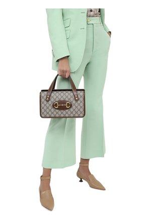 Женская сумка gg 1955 horsebit small GUCCI коричневого цвета, арт. 627323/92TCG | Фото 2