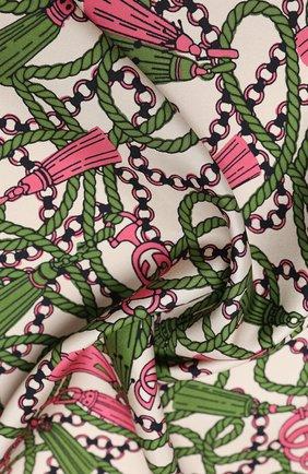 Женский шелковый платок GUCCI розового цвета, арт. 626788/3G001 | Фото 2
