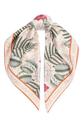Женский шелковый платок GUCCI белого цвета, арт. 626770/3G001 | Фото 1