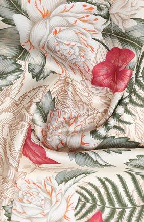Женский шелковый платок GUCCI белого цвета, арт. 626770/3G001 | Фото 2