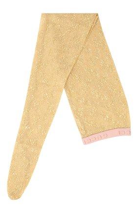Женские колготки GUCCI золотого цвета, арт. 615002/3GF25 | Фото 1