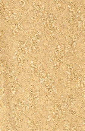 Женские колготки GUCCI золотого цвета, арт. 615002/3GF25 | Фото 2