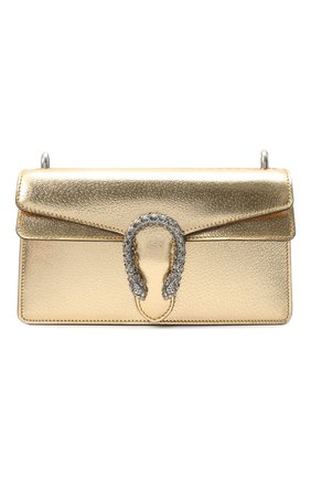 Женская сумка dionysus small GUCCI золотого цвета, арт. 499623/1TRBN   Фото 1 (Размер: small; Материал: Натуральная кожа; Ремень/цепочка: На ремешке; Сумки-технические: Сумки через плечо)