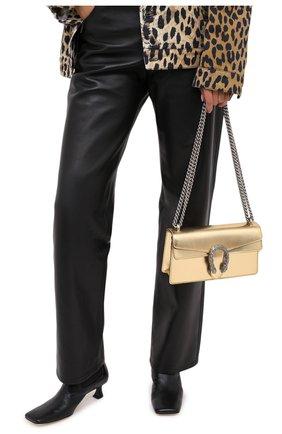 Женская сумка dionysus small GUCCI золотого цвета, арт. 499623/1TRBN   Фото 2 (Размер: small; Материал: Натуральная кожа; Ремень/цепочка: На ремешке; Сумки-технические: Сумки через плечо)