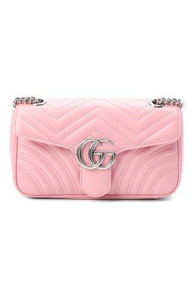 Женская сумка gg marmont small GUCCI светло-розового цвета, арт. 443497/DTDIY | Фото 1