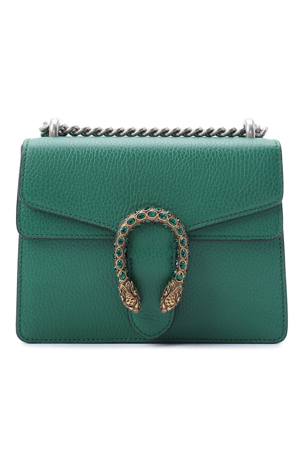 Женская сумка dionysus mini GUCCI зеленого цвета, арт. 421970/CA0GX   Фото 1
