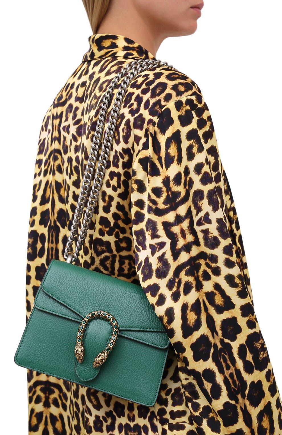 Женская сумка dionysus mini GUCCI зеленого цвета, арт. 421970/CA0GX   Фото 2