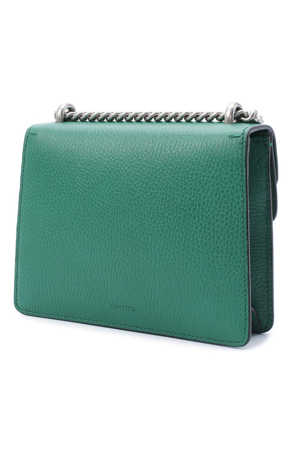 Женская сумка dionysus mini GUCCI зеленого цвета, арт. 421970/CA0GX   Фото 3