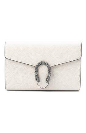 Женская сумка dionysus mini GUCCI белого цвета, арт. 401231/CA0GM   Фото 1 (Размер: mini; Материал: Натуральная кожа; Ремень/цепочка: На ремешке; Сумки-технические: Сумки через плечо)