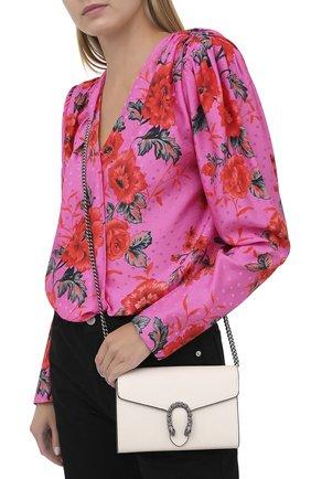 Женская сумка dionysus mini GUCCI белого цвета, арт. 401231/CA0GM   Фото 2 (Размер: mini; Материал: Натуральная кожа; Ремень/цепочка: На ремешке; Сумки-технические: Сумки через плечо)