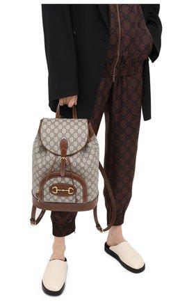 Женский рюкзак horsebit 1955 GUCCI коричневого цвета, арт. 620849/92TCG | Фото 2