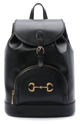 Женский рюкзак horsebit 1955 GUCCI черного цвета, арт. 620849/0YK0G | Фото 1