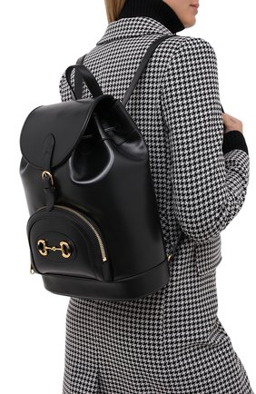 Женский рюкзак horsebit 1955 GUCCI черного цвета, арт. 620849/0YK0G | Фото 2