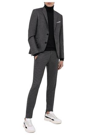 Мужской костюм из шерсти и хлопка NEIL BARRETT серого цвета, арт. PBAB127/P017 | Фото 1
