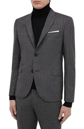 Мужской костюм из шерсти и хлопка NEIL BARRETT серого цвета, арт. PBAB127/P017 | Фото 2