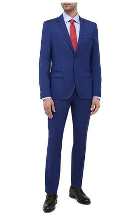 Мужской шерстяной костюм HUGO синего цвета, арт. 50417167 | Фото 1