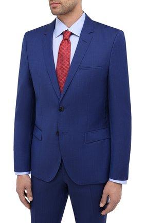 Мужской шерстяной костюм HUGO синего цвета, арт. 50417167 | Фото 2