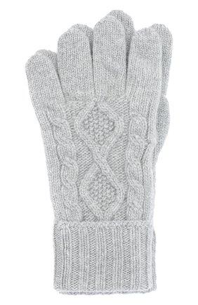 Мужские кашемировые перчатки JOHNSTONS OF ELGIN серого цвета, арт. HAY02852 | Фото 1