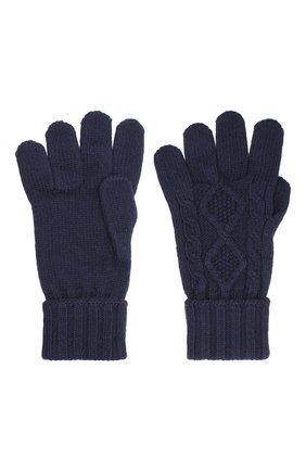 Мужские кашемировые перчатки JOHNSTONS OF ELGIN темно-синего цвета, арт. HAY02852   Фото 2