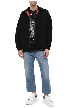 Мужские кожаные кеды ALEXANDER MCQUEEN белого цвета, арт. 553680/WHXMW | Фото 2