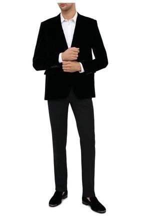 Мужские текстильные лоферы ALEXANDER MCQUEEN черного цвета, арт. 575436/W4IKS | Фото 2
