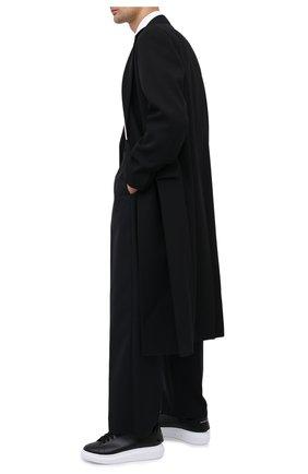 Мужские кожаные кеды ALEXANDER MCQUEEN черного цвета, арт. 625161/WHYB9 | Фото 2