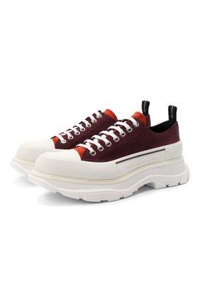Мужские замшевые кроссовки ALEXANDER MCQUEEN бордового цвета, арт. 627225/WHBGN | Фото 1