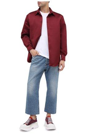 Мужские замшевые кроссовки ALEXANDER MCQUEEN бордового цвета, арт. 627225/WHBGN | Фото 2