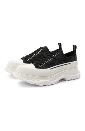 Мужские замшевые кроссовки ALEXANDER MCQUEEN черного цвета, арт. 627225/WHW57 | Фото 1
